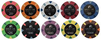 majestic card room sample chips apache poker chips