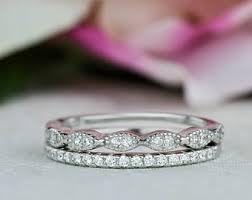 deco wedding rings deco wedding band etsy