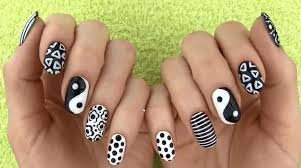 black and white nail art best videos pictures of designsor