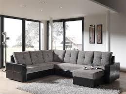 canapé d angle noir et gris deco in canape d angle panoramique convertible noir et gris