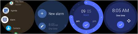 how to set alarm on android how to set and use an alarm with a android wear 2 0 smartwatch