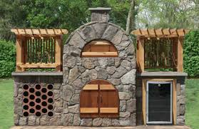 Pizza Oven Fireplace Combo by Wood Fired Pizza Ovens And Smokers Stone Age Manufacturing