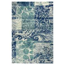 Area Rugs Blue And Green Kas Rugs Whimsical Palette Blue Green 3 Ft 3 In X 5 Ft 3 In