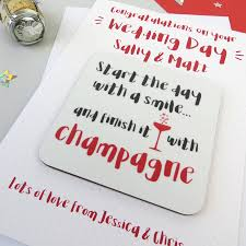 funny champagne wedding day congratulations card by wink design