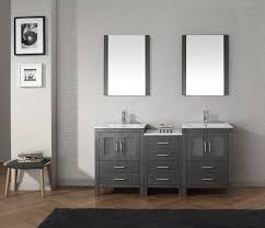 custom retro style bath vanity with drawers and storage built in