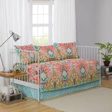 better homes and gardens jewel damask daybed shams and bedskirt