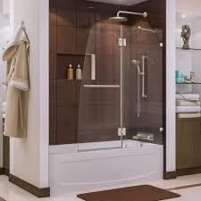 frameless bathtub doors shower doors the home depot aqua