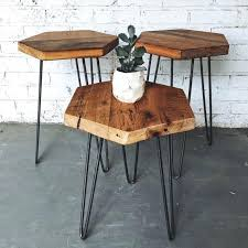 Table Co Side Table Reclaimed Side Table Teak Square Pine Reclaimed Side