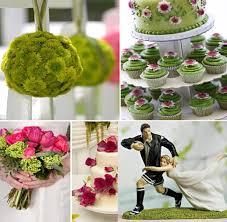thã me de mariage mariage thème rugby décoration couleurs vert blanc et ne