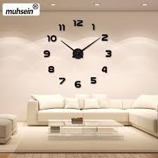 wall clock modern 2017 new home decoration wall clock big mirror wall clock modern