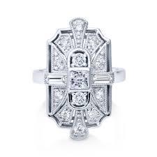 art deco rings sterling silver u0026 cubic zirconia berricle