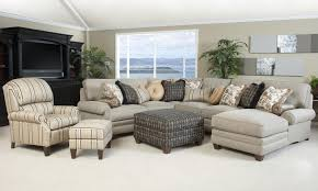 Sectional Sofa With Recliner by Traditional Styled Sectional Sofa With Comfortable Pillowed Seat