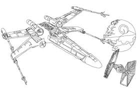 print star wars coloring pages wing download star wars