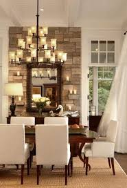 Stone Accent Wall Transitional Dining Room Pineapple House - Dining room accent wall