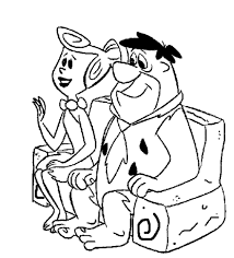 flintstones coloring pages the flintstones cartoon coloring