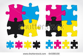 Cmyk Color Spectrum Puzzle 4 Piece Jigsaw Vector Stock Images Royalty Free Images U0026 Vectors