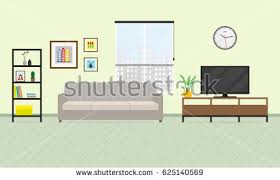 living room interior furniture flat style stock vector 562729099