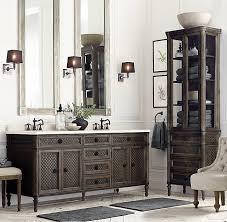 Bathroom Cabinets Restoration Hardware Interior Design by Louis Xvi Treillage Double Vanity