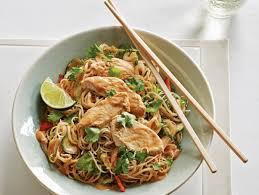 noodle salad recipes chilled peanut chicken noodle salad recipe food network kitchen