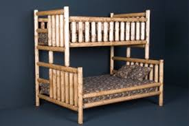 Log Bunk Bed Rustic Log Bunk Beds For Your Rustic Cabin Decor - Log bunk beds