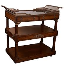 la barge mahogany bar cart ebth