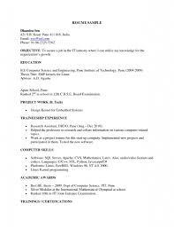 Fresher Electrical Engineer Resume Sample by Sample Resume For Animation Freshers Templates