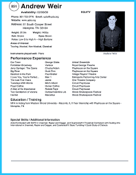 Best Words For Resume Theatrical Resume Template Word Resume For Your Job Application