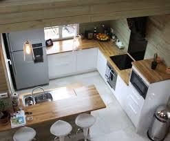 deco cuisine blanc et bois cuisine blanche et bois beautiful la cuisine moderne blanche et