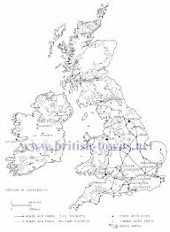 Map Of Britain Major Roman Settlements And Roman Roads