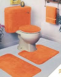 marvelous design inspiration orange bath rug set delightful