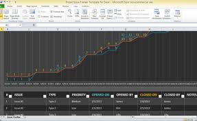 Microsoft Project Excel Template Project Issue Tracker Template For Excel