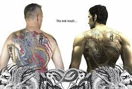 man wins kazuma kiryu u0027s 9000 back tattoo gamerevolution