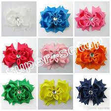 handmade bows baby handmade headwear 4 inch grosgrain ribbon bowknot