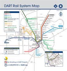 Map Of Dallas Tx Area by Official Map Dallas Dart Light Rail System Transit Maps