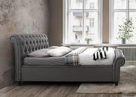 castello fabric side ottoman bed oak furniture uk