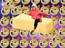 Paula Deen Butter Meme - paula deen riding butter in a galaxy of doge imgur