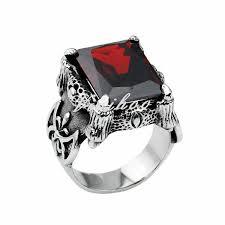 aliexpress buy mens rings black precious stones real hot sale new black titaniun men ring with square vintage
