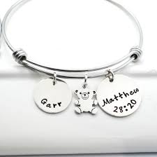 Personalized Bangle Bracelet Buy A Hand Made Loss Of A Child Memory Bracelet Personalized