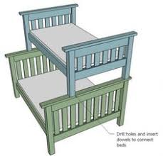 Twin Loft Bed Plans by Free Woodworking Plans To Build A Full Sized Low Loft Bunk The