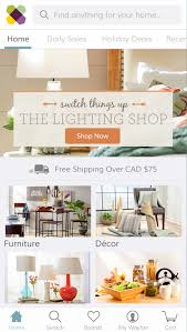wayfair debuts popular mobile shopping app in canada u k and