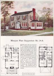 1923 classic colonial revival traditional house plan