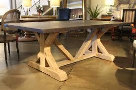 battery park zinc top dining table u2013 mortise u0026 tenon