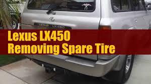 toyota land cruiser cygnus lexus lx470 how to remove spare tire on lx450 or 80 series land cruiser fj80