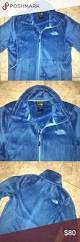 warm blue color north face osito blue fuzzy fleece full zip jacket north face