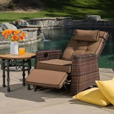 table for recliner chair furniture cozy patio recliner for your outdoor chair design