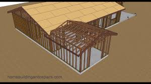 gable roof trusses with fill u2013 home addition roof framing youtube