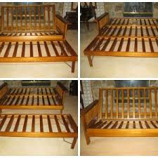 solid wood futon frame bedroom beautiful the golden jet wooden futon for bedding