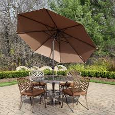 Oakland Living Mississippi Cast Aluminum Metal Patio Furniture With Umbrella 28 Images Metal Dining Set