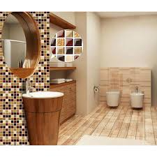 kitchen backsplash stickers glass tiles sheet mosaic wall sticker kitchen