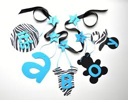 Baby Boy Shower Decorations by Zebra And Blue Baby Shower Decorations It U0027s A Boy Banner